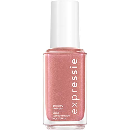 essie expressie Quick-Dry Vegan Nail Polish, Checked In, Nude Pink, 0.33 Ounce