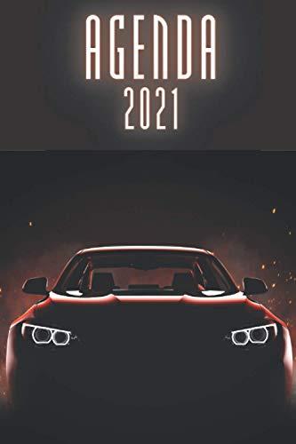 Agenda 2021 Coche Deportivo: agenda 2021 semana vista - planificador semanal y mensual 2021 A5 - de enero a diciembre 21 - una Semana en dos Páginas - agenda anual 2021 - regalo coche mujer hombre