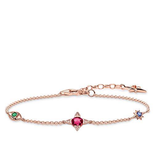 Thomas Sabo Damen-Armband Kleine Glücksbringer roségold 925 Sterlingsilber roségold vergoldet A1913-321-7-L19v