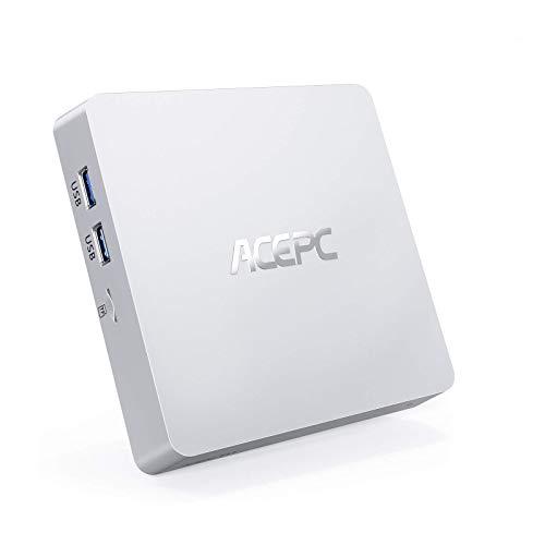 Mini PC, 8GB RAM+128GB ROM Intel Atom x5-Z8350 Windows 10 Pro Senza Ventola Mini Computer HDMI+VGA Doppio display, 1000 Mbps LAN, 2.4G + 5G Dual WiFi, 4K HD, Bluetooth 4.2