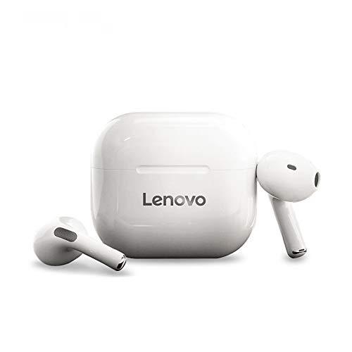 Original Lenovo TWS Kopfhörer, kabellos, Bluetooth, Touch-Steuerung, Stereo-Ohrhörer mit 300 mAh Kopfhörer-Ladehülle