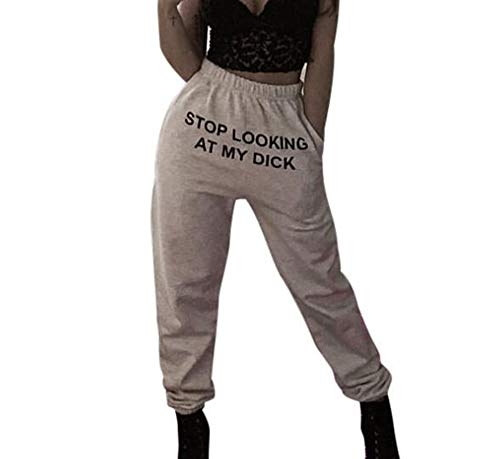 Stylish Streetwear Fun T-Shirt Lustige Stop Looking Letter Prints Hoodies Hosen