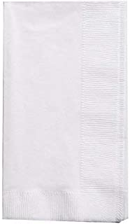 "Bell Marque White Dinner Napkin-300 2-Ply White Dinner Napkins, 0.1"" Height, 17"" width, 15"" Length (Pack of 300)"