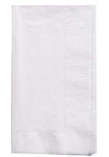 """Bell Marque White Dinner Napkin-300 2-Ply White Dinner Napkins, 0.1"""" Height, 17"""" width, 15"""" Length (Pack of 300)"""