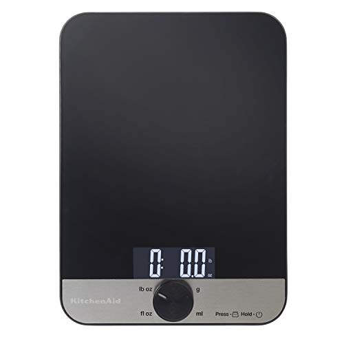 KitchenAid Glass 11 Pound Digital Top Kitchen Scale, One
