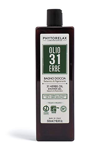PhytorelaxLaboratories, Olio 31 Erbe Vegan & Organic - Bagno Doccia - Balsamico E Rigenerante - 500 ml