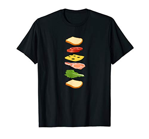 Sandwich with Bread Cheese & Ham Foodie Food TShirt