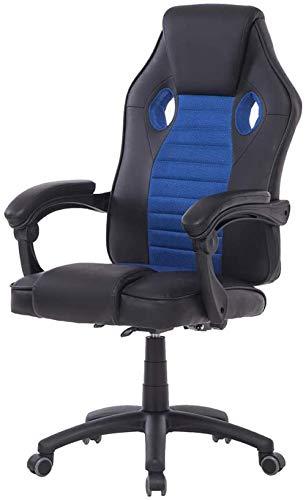 Gaming Chair Racing Style Ergonomischer Computerstuhl mit hoher Rückenlehne und Höhenverstellung Bürostuhl PU-Leder mit Fußstütze