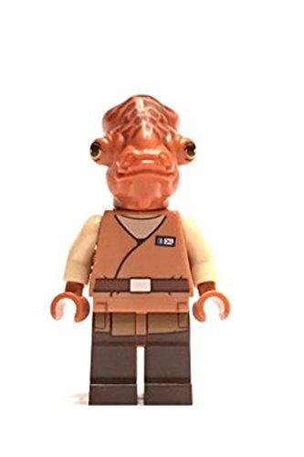 Star Wars Lego Minifigur Admiral Ackbar aus dem Set 75140 Rare SELTEN