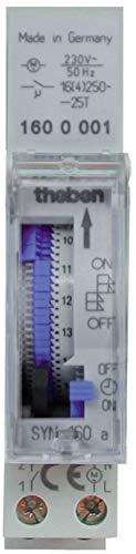 Theben 1600001 - SYN 160 a - Interruptor horario analógico - 1 canal - Programa diario - Carril DIN
