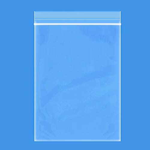 """Edvision 6"""" x 9"""" Plastic Bags, 200 Count 2 Mil Transparent Resealable Zipper Poly Bags, Reclosable Storage Bags for Jewelry Supplies, Beads, Screws, Small Items"""