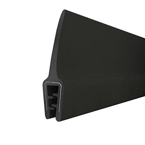 STEIGNER Gummidichtung Kantenschutzprofil T-45 SCHWARZ 10x33mm Gummiprofil, 1 Meter, Fassungsprofil Kantenschutz Keder Kederband U-Profil STAHLEINLAGE