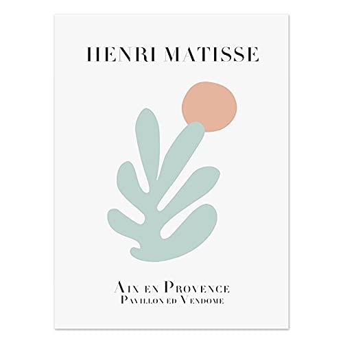 Carteles florales abstractos de Henri Matisse, impresiones de decoración de arte de pared nórdico, pinturas en lienzo sin marco en la sala de estar A3 30x45cm
