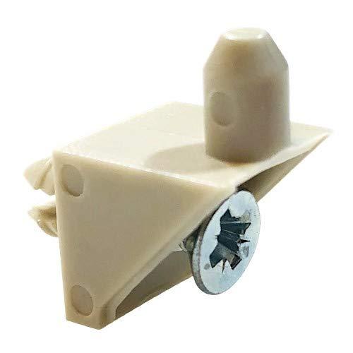 ReplacementScrews Beige Shelf Support Pins for IKEA Part #115344 (Pax, KOMPLEMENT) (Pack of 8)
