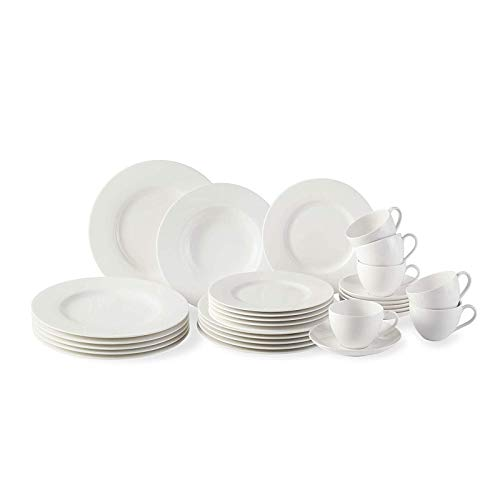 vivo by Villeroy & Boch Group Basic White Set combo, 30 piezas,...