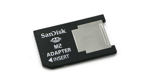 Original SanDisk Memory-Stick M2 ProDuo Adapter. Ermöglicht den Betrieb einer M2 Karte als ProDuo-Memorystick