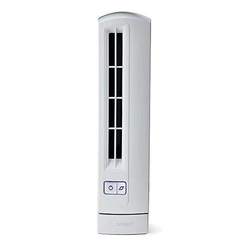 Lasko T14100 Air Stick Ultra Slim Oscillating Fan Tabletop Tower, White