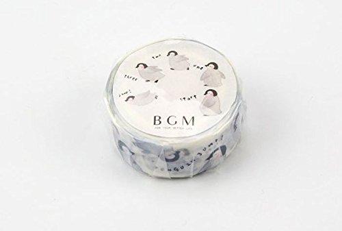 BGM - Cinta adhesiva para enmascarar (15 mm) para álbumes de recortes - Pingüino de la vida