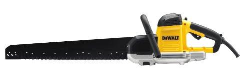 DeWalt 1.700 Watt Spezialsäge (Sägeblattlänge 430 mm, ideal für Schnitte in Porenbeton (Festigkeitsklassen zwei, vier und sechs) und für Gips, inkl. HM-Sägeblattsatz DT2975 und Inbus), DWE399