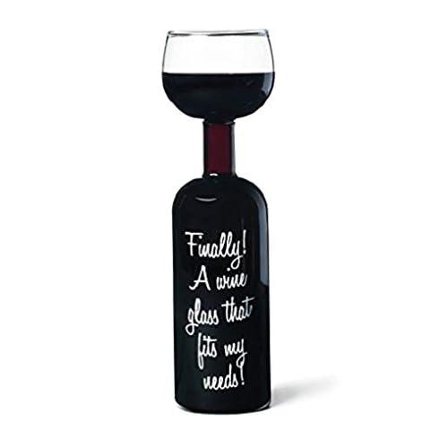 BigMouth Inc Ultimate Wine Bottle Glass Holds Full Of 750ml Funny Gag