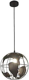 Araña moderna nórdica, globo terráqueo, E27, utilizada en el comedor dormitorio, estudio, pasillo Restaurantes, bares, 30 cm de diámetro negro
