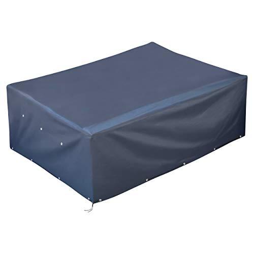GardenMate® 200x160x70cm Oxford Polyester Schutzhülle für Gartenmöbel - ANTHRAZIT - Premium Qualität aus hochwertigem 220GSM Oxford Material