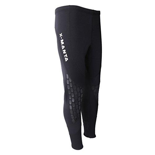 perfk Traje De Neopreno Para Hombre De 1,5 Mm Pantalones Largos Traje De Baño De Invierno Canoa Kayak Surf Canoe Pants M-XXL, Negro - Negro, M
