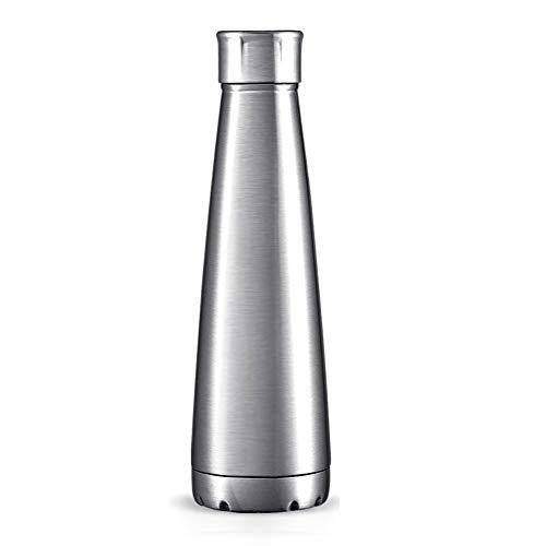 UMI. by Amazon Frasco de Vacío de Acero Inoxidable, 450ml, Termo sin BPA con Aislamiento al Vacío, Diseño de Pared Doble sin Fugas, Aptas para el lavavajillas Botella de Agua de Acero Inoxidable