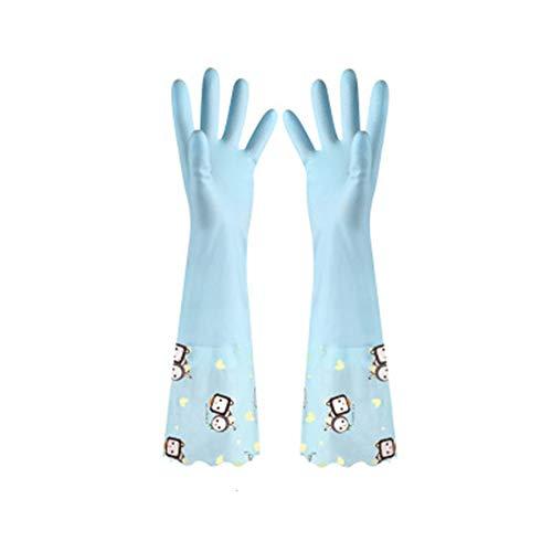 DINGUO Clean rubber handschoenen winter plus fluweel PVC keuken waterdichte anti-slip latex handschoenen 1 paar