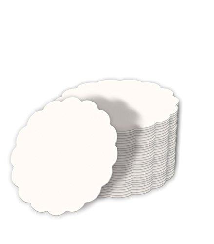 Blanko-Bierfilze,weiß,Wellenrand unbedruckt, Ø10cm, 100 Stück