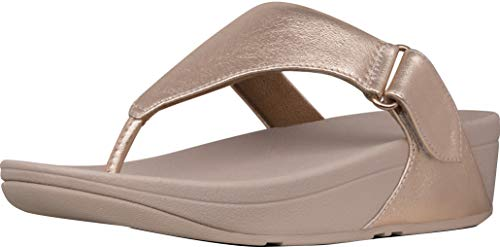 FitFlop New Women's Sarna Thong Sandal Rose Gold 7