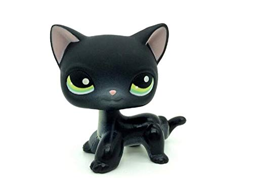 WOOMAX Juguete LPS Littest Pet Shop Negro Pelo Corto Kitty Cat Loose Collection Juguetes para ni?os Cumplea