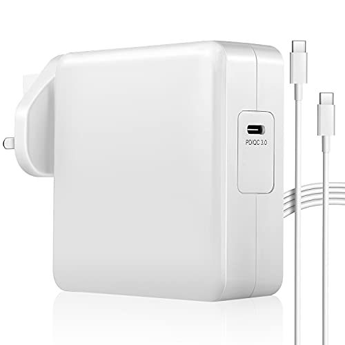 87W USB C Charger Wall Charger, PD 3.0 Type C Charger Fast Charging Power Adapter with USB C Cable for USB C Laptops, MacBook, iPad Pro, Samsung, Nexus, Pixel