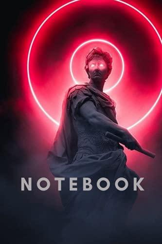 Neon Statue Modern Art Notebook 6x9