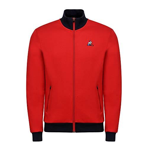 Le Coq Sportif ESS FZ Sweat Bicolore N°1 M Sudadera, Hombre, Pur Rouge, 2XL