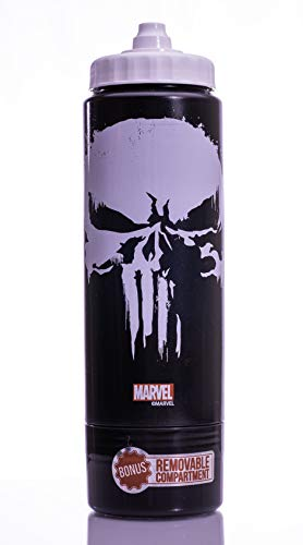 Elite Officially Licensed Avengers Drinkware – 25 Ounce (740 ml) Hydrocase Squeeze Bottle (Punisher)