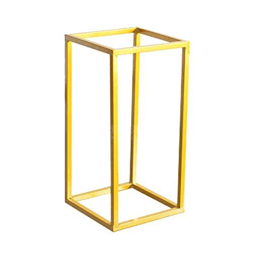szlsl88 Jarrón de metal, soporte de columna, jarrones geométricos, accesorios para flores, soporte de hierro, desmontable, para decoración de bodas