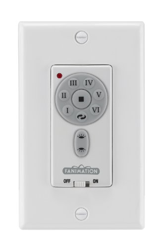 Fanimation TW42WH Transitional Wall Controls Collection in White Finish, 4.50 inches