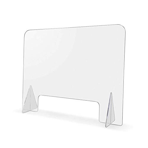 Escudos estornudos Practical Protector de recepción transparente, panel de protección de estornudos acrílico con protección de protección de apertura pequeña Divisor de escritorio transparente Divisor