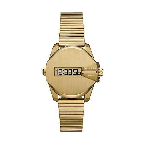 Diesel Mens Analog Digital Uhr mit Stainless Steel Armband DZ1961