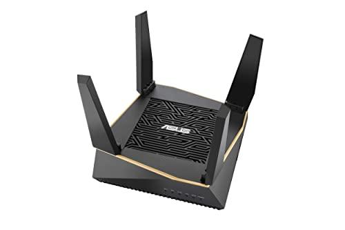 ASUS RT-AX92U - Router Gaming Wi-Fi 6 AX6100 Tri-Banda Gigabit (OFDMA, MU-MIMO, Triple VLAN, Modo Punto de Acceso, AiProtection Pro con Trend Micro, Adaptive QoS, soporta Ai Mesh WiFi), Negro