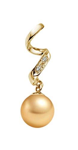 Golden South Sea calidad AAA perlas bonitos lámpara de techo colgante 14...