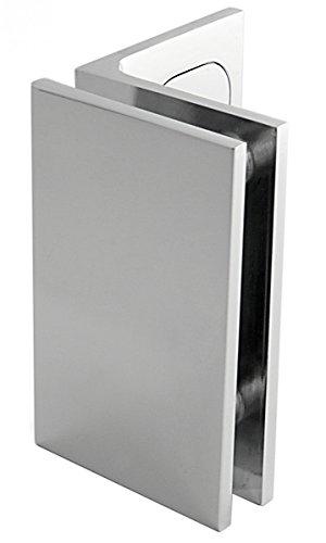 Winkelverbinder Fixum XL, Glas-Wand, Langloch m. Abdeckung, 90°, Chrom