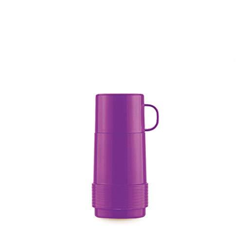Valira Colección 1969 - Termo para líquidos de 0,25 L con botella de vidrio aislante de doble pared hecho en España, color morado