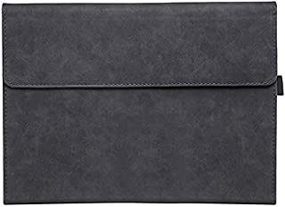 For Microsoft Surface Pro 7 / 6 / 5 / 4 with Leather Outside and Silicone Case inside - 12.3 inch - Charcoal Black