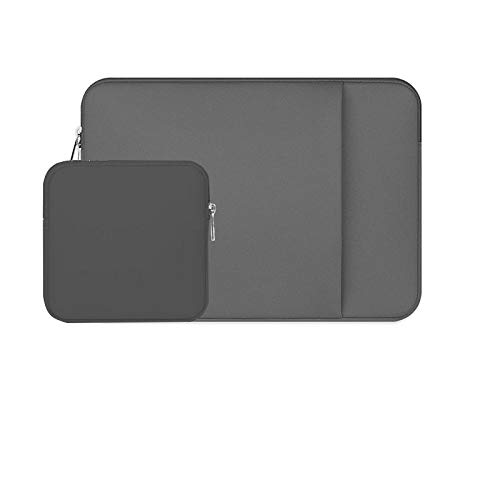 Laptop Sleeve 11 12 13 14 15 15.6 inch ntebook case Soft Bag for acbook Air Pro Retina Tablet Pocket-Grey-P_Set_15 inch