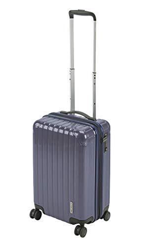 キャプテンスタッグ(CAPTAIN STAG) スーツケース キャリーケース キャリーバッグ 超軽量 TSAロック ダブルホイール 360度回転 静音 ダブルファスナータイプ 機内持込 Sサイズ バイオレッド パルティール UV-84