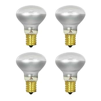 40W R14 Reflector Light Bulb E17 Intermediate Base 280 Lumens Dimmable 120V  4 Pack