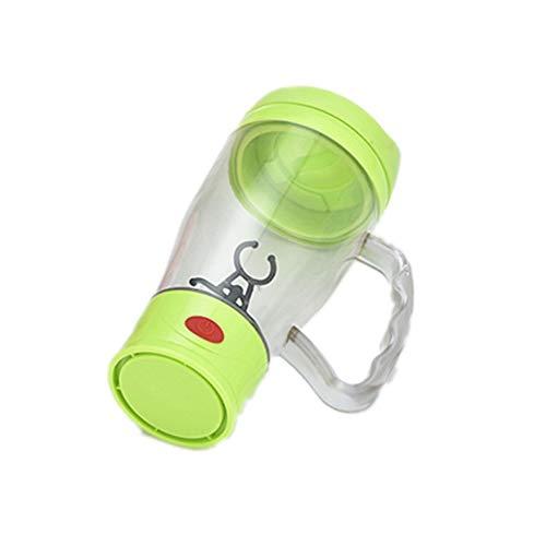 Eamplest Elektrischer Eiweiß Shaker, Elektrische Protein Shaker Flasche, Eiweiss-Shaker Mixer, Kreative Elektro Blender für Säfte Cocktails Kaffee Tee Eiweiss (Grün)