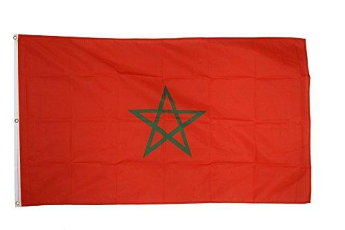 Flaggenfritze Fahne/Flagge Marokko - 150 x 250 cm + gratis Sticker, XXL-Fahne
